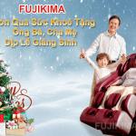 Ghế massage Fujikima, món quà sức khỏe tặng ông bà, bố mẹ dịp Giáng sinh